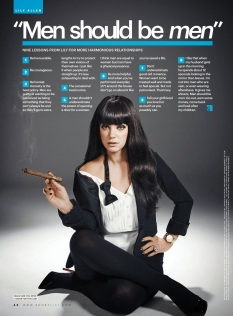 "Lily Allen believes that ""men should be men"""