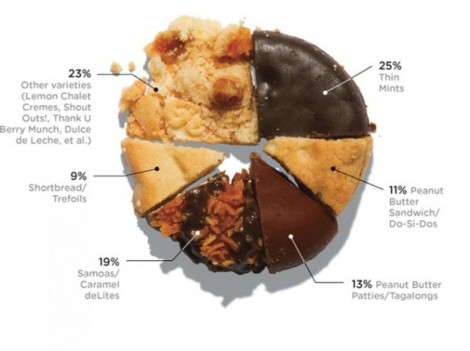 I am very surprised that Peanut Butter Patties are not higher on this list. Also, I don't like Thin Mints. Never have. Probably never will.