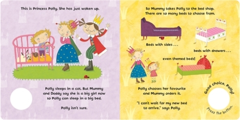 """Today, among other things, the toddler pretended to be Princess Polly. As Princess Polly, she used a hammer and screwdriver to """"build a big-girl bed""""."""