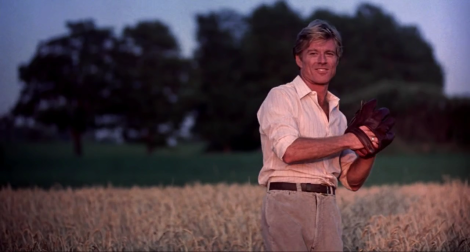 Robert Redford in The Natural, one of the many books about a boy and his sport that I had to read in high school.
